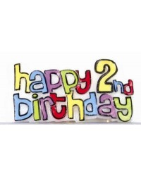 image: Happy 2nd Birthday feature candle