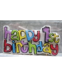 image: Happy 1st Birthday feature candle