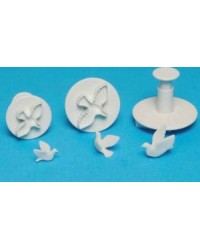 image: Dove Set 3 plunger ejector cutters (great for seagulls too)
