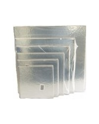 image: 6 inch square SILVER cake card (3 pk)