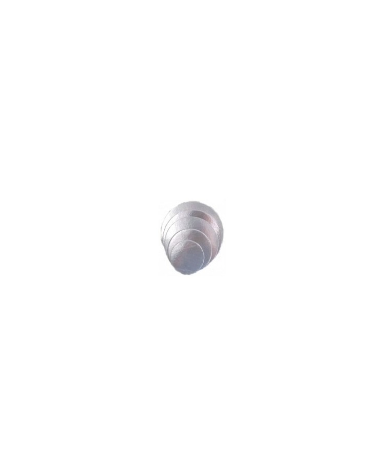 image: 7 inch round SILVER cake card (3 pk)