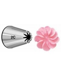 image: Large Wilton icing nozzle tip 2C Drop Flower or Rosettes