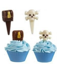image: Pirate chocolate cupcake pick mould