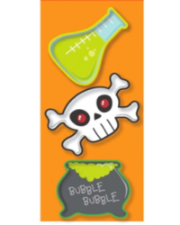 image: Mad scientist skull cauldron halloween cookie cutter set 3