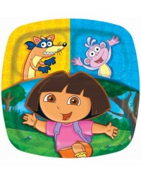 image: Dora the explorer party plates (divided) (8)