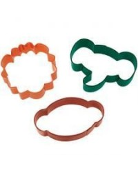 image: 3 Piece Jungle Pals Cookie Cutter Set