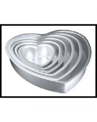 image: Heart shape Fat Daddios cake pan 6""