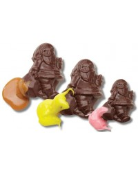 image: Christmas 3d Santas, bells & bon bons chocolate mould