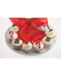 image: Christmas Holly & Candy Canes & Santas chocolate mould