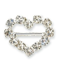 image: Mini diamante heart buckle pack of 10
