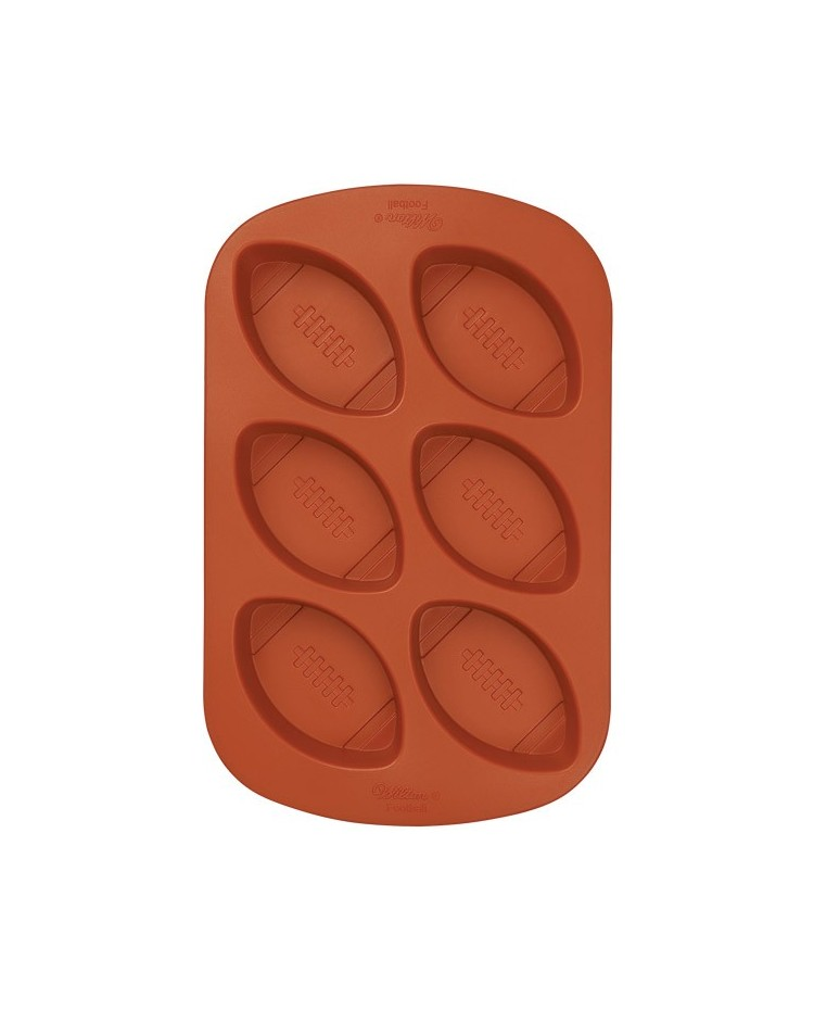 image: Silicone rugby football mini cake pan mould