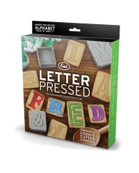 image: Letter Pressed ABC alphabet block Cookie Cutter Stampers