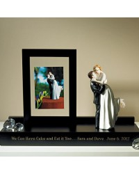 image: Wedding topper Keepsake Display Stand BLACK