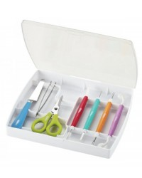 image: Deluxe gum paste modelling tool set (with scissors)