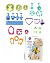 image: Gumpaste Flower 19 Cutters Set Rose Lily Orchid & leaf & more