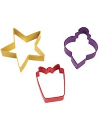 image: Wilton 3 pc Christmas cookie cutter set inc ORNAMENT