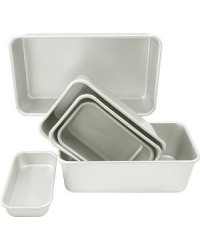 "image: Bread or loaf pan 5 1/2"" x 3 3/8"" x 2 3/8"""