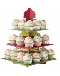 image: Homemade for the Holidays treat or cupcake stand