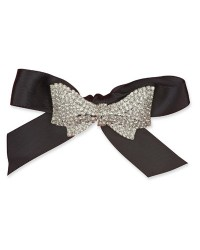 image: Cake jewellery Diamante BOW brooch