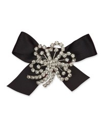 image: Cake jewellery Diamante Flower brooch