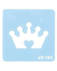 image: Princess crown stencil