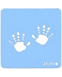 image: Handprints stencil