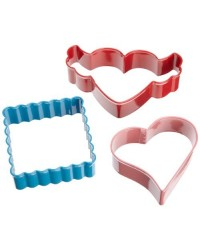 image: Wilton 3 Piece Hearts-A-Flutter Cookie Cutter Set