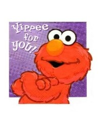 image: Hooray for Elmo party beverage napkins (16) Sesame Street