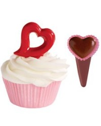 image: Heart cupcake pick chocolate mould Wilton
