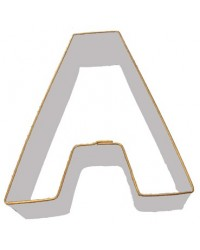 image: Alphabet letter cookie cutter A