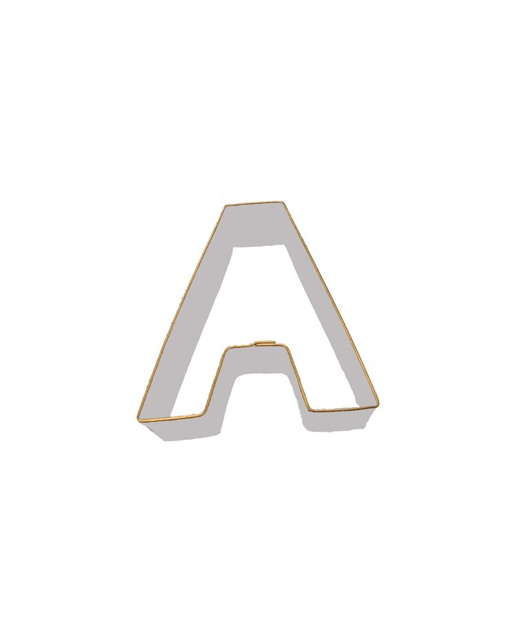 Alphabet letter cookie cutter a for Cookie letter press