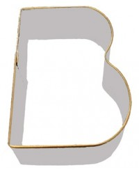image: Alphabet letter cookie cutter B