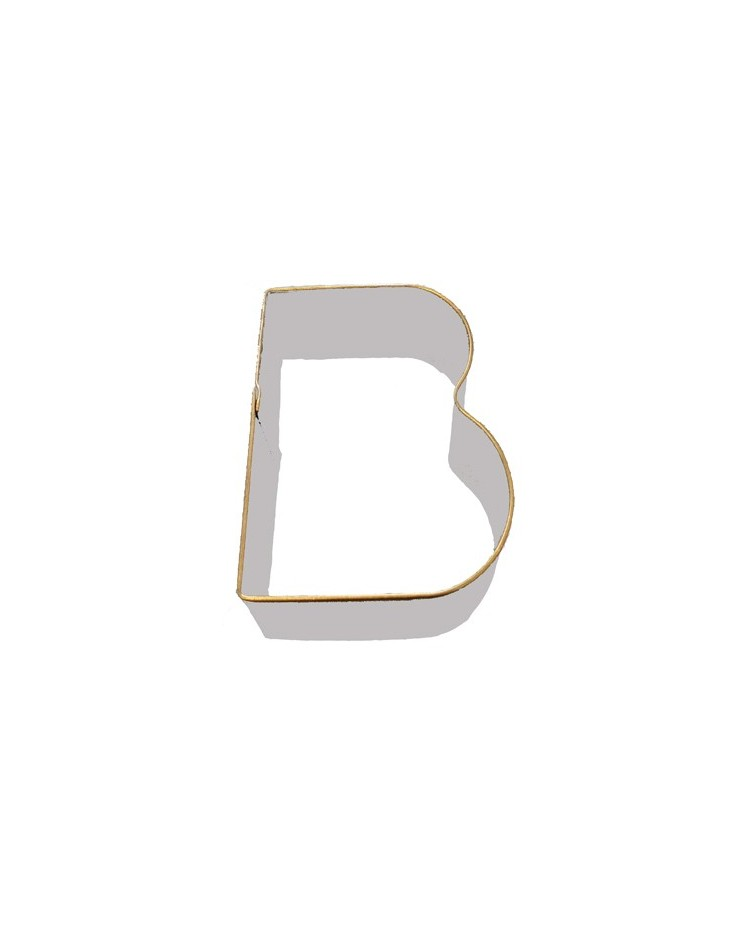 Alphabet letter cookie cutter b for Cookie letter press
