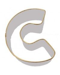 image: Alphabet letter cookie cutter C