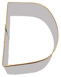 image: Alphabet letter cookie cutter D