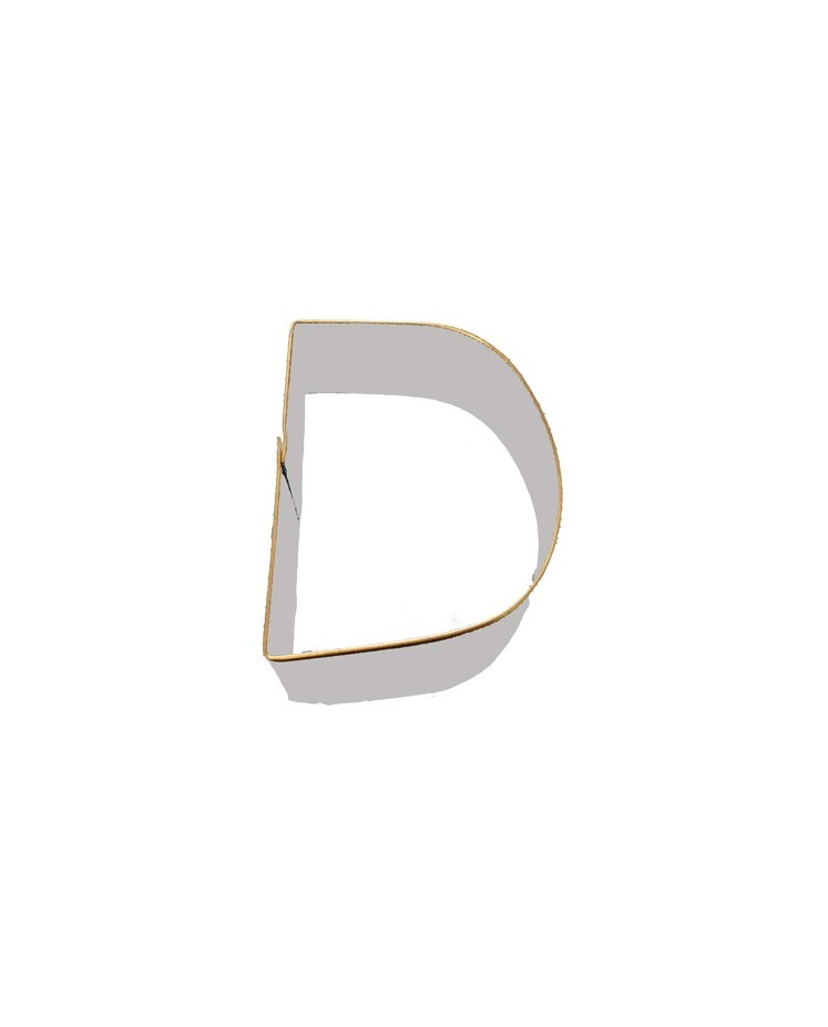 Alphabet letter cookie cutter d for Cookie letter press