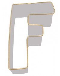 image: Alphabet letter cookie cutter F