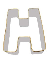 image: Alphabet letter cookie cutter H