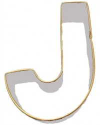 image: Alphabet letter cookie cutter J