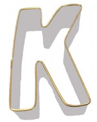 image: Alphabet letter cookie cutter K