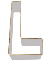 image: Alphabet letter cookie cutter L