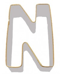 image: Alphabet letter cookie cutter N