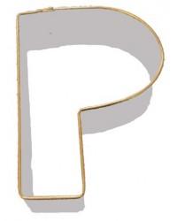 image: Alphabet letter cookie cutter P
