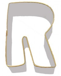 image: Alphabet letter cookie cutter R