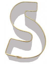 image: Alphabet letter cookie cutter S