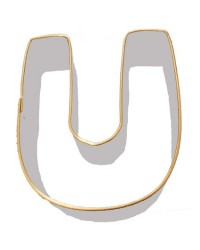 image: Alphabet letter cookie cutter U