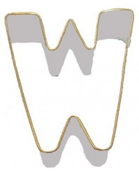image: Alphabet letter cookie cutter W