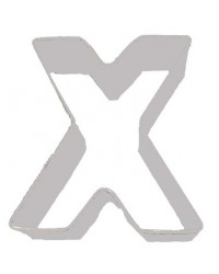 image: Alphabet letter cookie cutter X