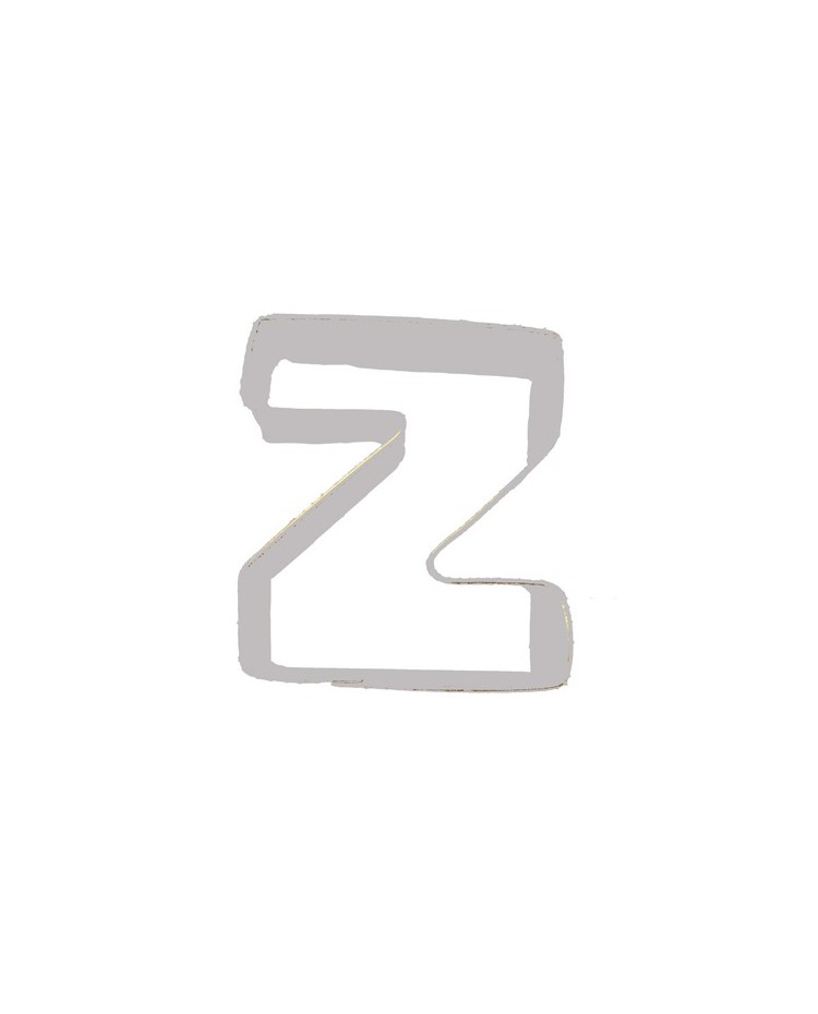 image: Alphabet letter cookie cutter Z