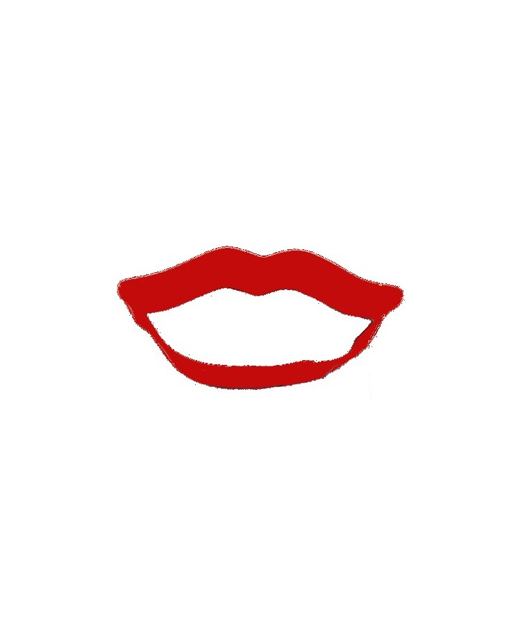 image: Red lips cookie cutter
